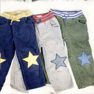 Baby Boden Star Patch Corduroy Trousers Lot 2-3y